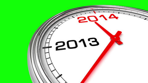 New Year 2014 Clock (Green Screen) Animation