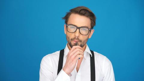 handsome guy wearing glasses ビデオ