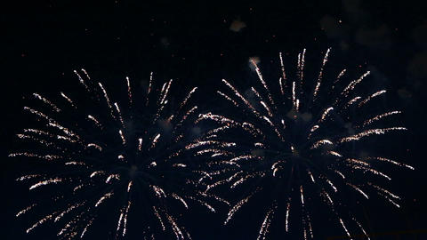 beautiful fireworks show in the night sky Footage