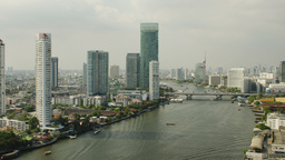 Time Lapse of the Chao Phraya River in Bangkok, Th Footage