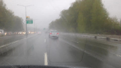 Driving On Raining Day stock footage