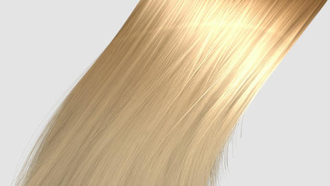 hair blowing blonde Animation