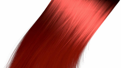 hair blowing red Animation