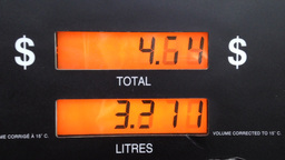 The rising cost of pumping gas Footage