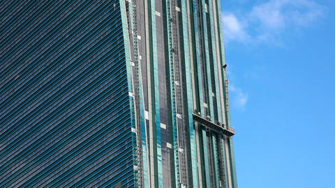 Skyscraper under construction Footage