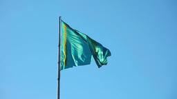 Flag of Kazakhstan Footage