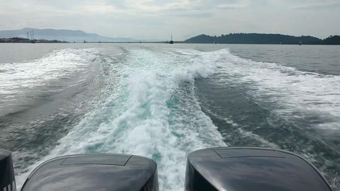 Speedboat wake of Footage