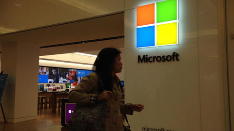 Exterior of a Microsoft store Live Action