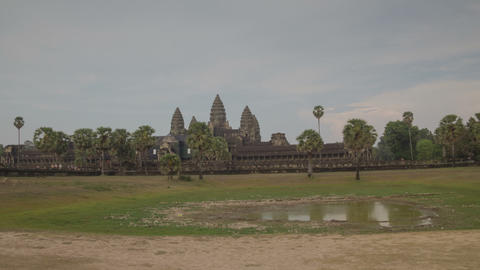 Angkor Wat temple hyperlapse Footage