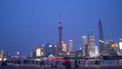 Sunset in Shanghai hyperlapse Footage