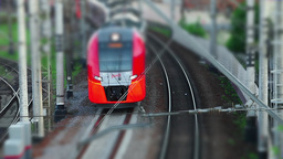 Electric Train Tilt stock footage