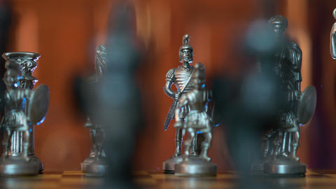 4k UHD chess figures dolly DOV changing back 11359 Footage