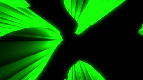 Shimmering laser rays green vj loop Animation