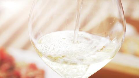White Wine Close Up Footage