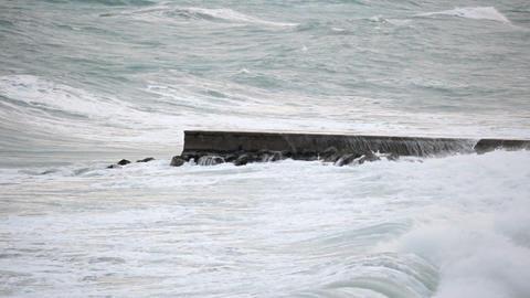 Waves on Dock Footage