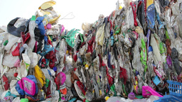 Stack of plastic waste - recycling center 2 Footage