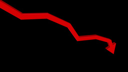 Red Arrow Heads Down Animation