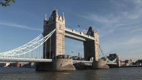 Tower Bridge in London United Kingdom Live Action