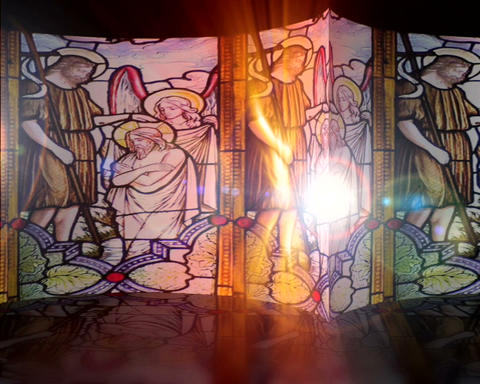 stained glass Stock Video Footage