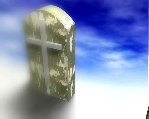 tombstones Stock Video Footage