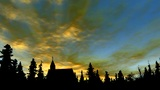Church And Sky 2 stock footage