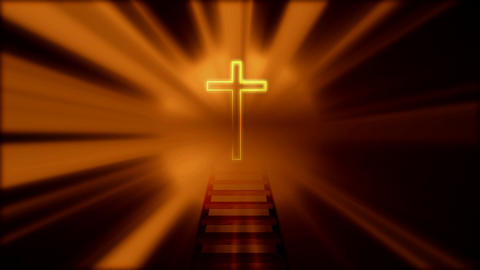 crucifix emitting light Animation