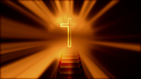 crucifix emitting light Stock Video Footage