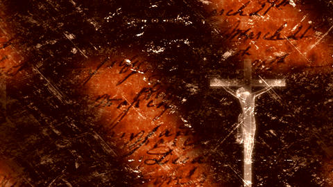 jesus on the cross 2 Stock Video Footage