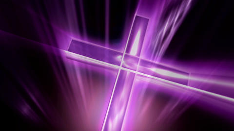 purple cross Stock Video Footage