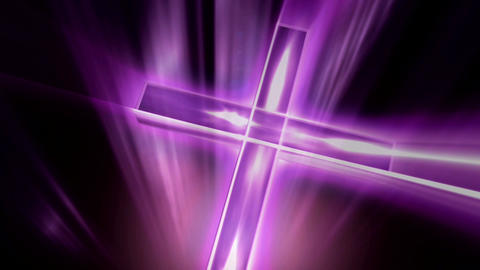 purple cross Animation