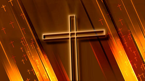 wooden crucifix Stock Video Footage