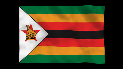 Flag A117 ZWE Zimbabwe Animation