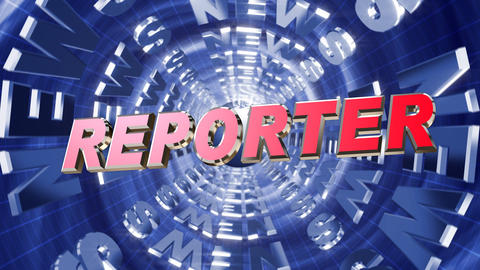 Series News opener - reporter Animation
