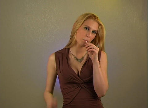 Sexy Blonde with Lolly Pop (1) Footage