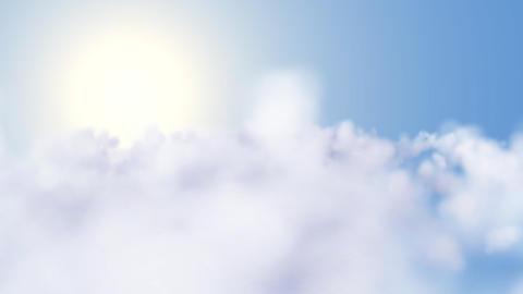 Rapid CGI flight through clouds Stock Video Footage