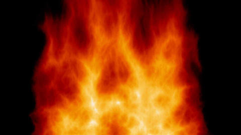 Loopable background fire animation Stock Video Footage