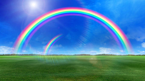 Rainbow A Green Stock Video Footage