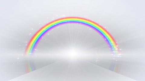 Rainbow A White Stock Video Footage