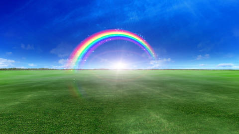 Rainbow BB Green Stock Video Footage
