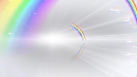 Rainbow BB White Stock Video Footage