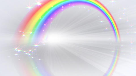 Rainbow BB White Stock Video Footage