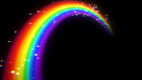 Rainbow C Black L Stock Video Footage