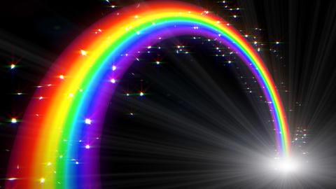 Rainbow C Black L Stock Video Footage