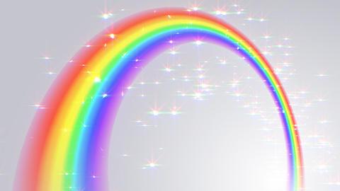 Rainbow C White L Stock Video Footage