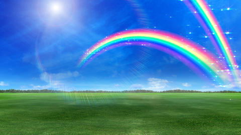 Rainbow D Green HD Stock Video Footage