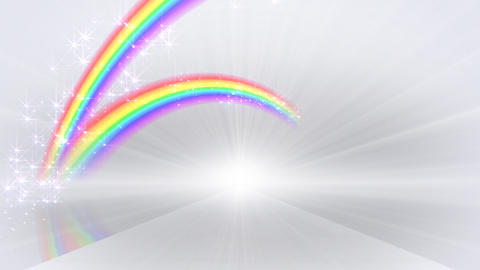 Rainbow D White Stock Video Footage