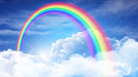 Rainbow Sky A Stock Video Footage