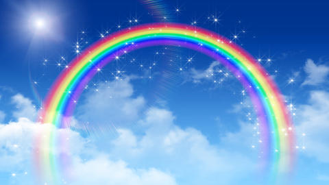 Rainbow Sky B 2 Stock Video Footage