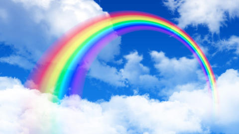 Rainbow Sky C HD Stock Video Footage
