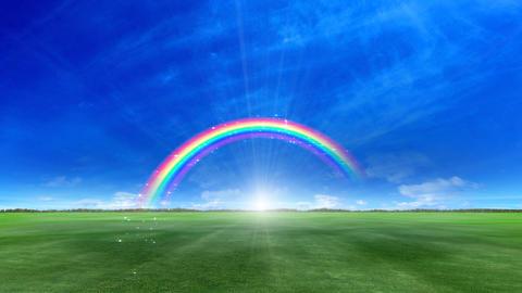 Rainbow B Green Stock Video Footage